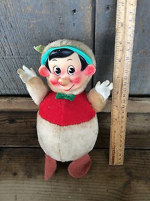 Vintage Pinocchio Walt Disney Plush Musical Bell Toy , Roly Poly Gund , Japan
