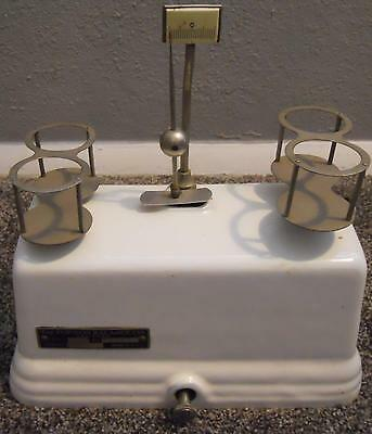 Antique Torsion Balance Company Pharmacist Scale Porcelain Coated