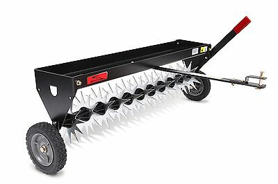 Brinly SAT-40BH Tow Behind Spike Aerator with Transport Wheels 40-Inch Black