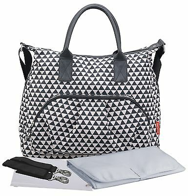 Diaper Bag by Bellotte - Stylish Functional Tote - Baby Changing Pad