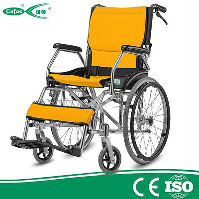 Cofoe lightweight aluminum folding portable Self Propelled mobility Wheelchair