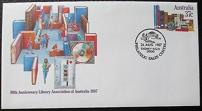 1987 50th Anniversary Library Association Pre-Stamped Envelope / PSE