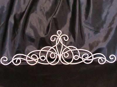 CHALK PINK METAL SCROLL PEDIMENT~SHABBY CHIC PATINA~~Cottage Chic
