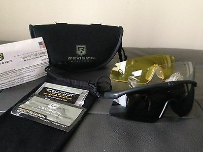 Revision Military Sawfly DELUXE Ballistic 3-Lens Black Eyewear System