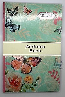 Butterfly & Rose Designer A5 Telephone Address Book Hard Back Index Directory