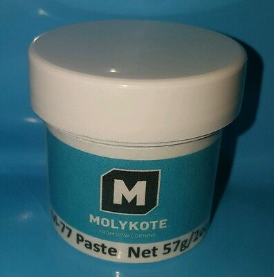 DOW CORNING MOLYKOTE M77 Paste Grease Lubricant Lube 2oz, Silicone Oil Moly MoS2