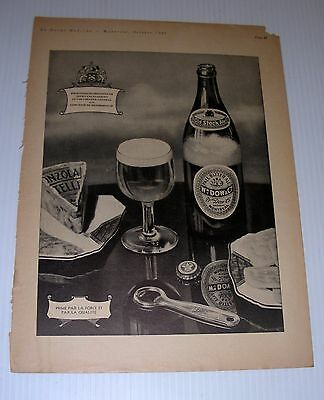 DOW beer  advertising 1935 tabloid Page French