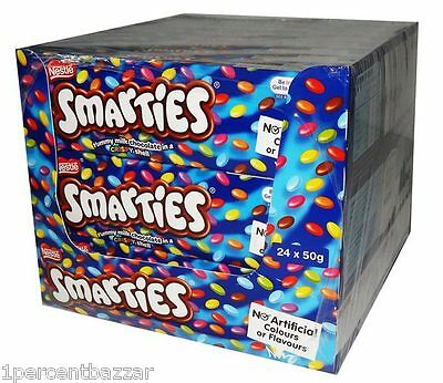 24 x 50g - Nestle SMARTIES chocolate box wholesale - xmas birthday party