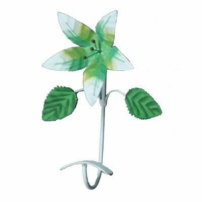Flower Hook Wrought Iron Multi Colored Lily | Renovators Supply
