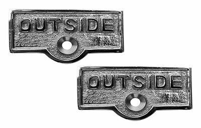 2 Switch Plate Tags OUTSIDE Name Signs Labels Chrome Brass | Renovators Supply