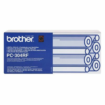 Genuine Brother PC-304RF Fax Refill Roll 4 Pack