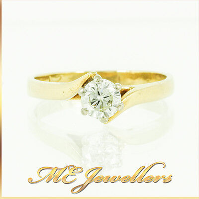 Classic Solitaire Brilliant Cut Diamond Engagement Ring 18k Gold Natural 0.50ct