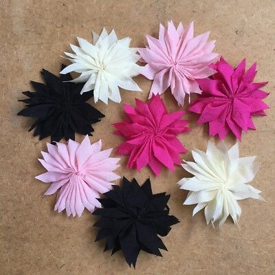 8 pcs Cute Ribbon Flowers Wedding Sewing DIY Crafts Appliques #251