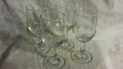 Set of 4 Small Clear Stemmed Glass Cordial Shot Mini Wine