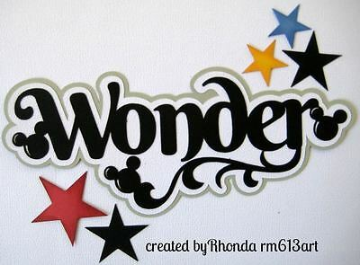Disney Wonder boy girl paper piecing title for scrapbook page by Rhonda rm613art