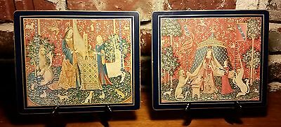 LADY CLARE Place Mat set of 2, Lady & the Unicorn French Senses Art Series