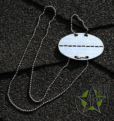 Bundeswehr- Dog tag Oval / BW 2 Chains with 1 Pendant