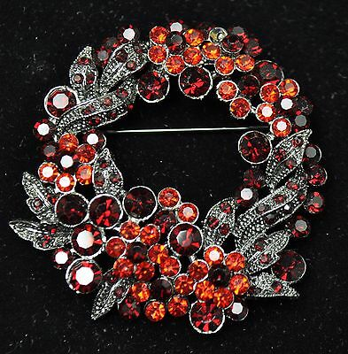 Vintage flower Style Brooches black /Red color  high-quality Bouquet gift-22