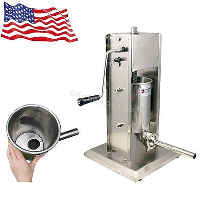 Full Metal Sausage Stuffer Vertical Stainless Steel 5L/11LB 11 Pound Meat Filler