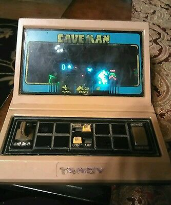 Vintage CAVEMAN  Tabletop Handheld Electronic Arcade Game TANDY 1981
