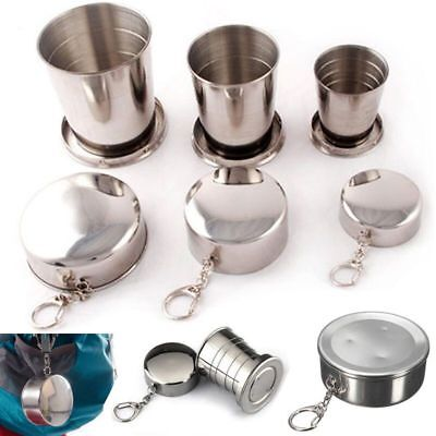 Stainless Steel Portable Folding Cup Telescopic Collapsible Travel Camping Cups