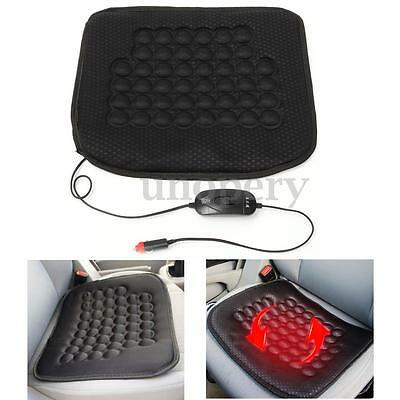Car Heated Front Seat Cushion Hot Cover Auto 12V Heat Heating Winter Warmer Pad