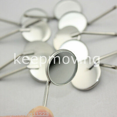 50x Dental Orthodontic Stainless Steel Mouth Mirrors 4# Plain Mirror Odontoscope