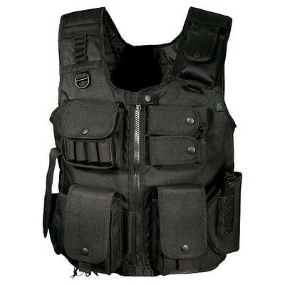 Leapers PVC-V548BL UTG Law Enforcement Tactical Vest Black Fully Adjustable