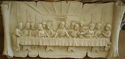 Latex Craft Mould Last Supper Plaque Reusable Art & Crafts Hobby Business