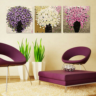 3PCS Small Flower DIY Number Painting Wall Paint TV Background Home Decor