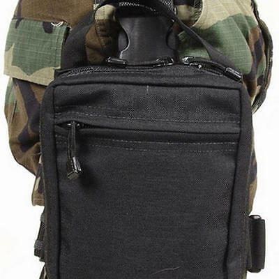Blackhawk 56MP00BK Black Nylon Drop Leg Medical Pouch/Bag w/Leg Strap