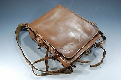 Vintage Japanese Military WWII WW2 Army Officer's Leather Bag Case Named