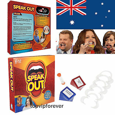 Speak Out Board Game 5pcs Mouthpiece Family Party Game Christmas ...