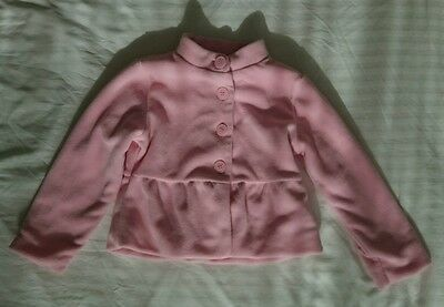 Mothercare Fleece Coat Age 2-3. Pink. Button Up. Vgc. Warm, Winter.