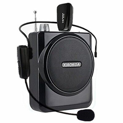XIAOKOA Portable Voice Amplifier With 2.4G Wireless Microphone(40M, Headset And