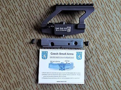 VZ58,SA58 LPM Optic Mount with Side Rail - Czech Small Arms - New - Complete