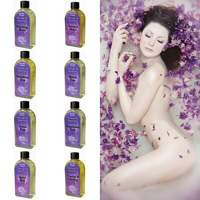 Aromatherapy Bath/Massage Oil 100ml -Bottle Essential Oil Blended Grapeseed Base