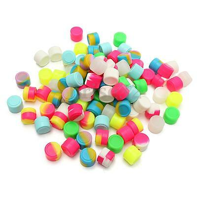 100Pcs 2ML Round Silicone Non Stick Concentrate Containers Jar Mixed Colors Lot