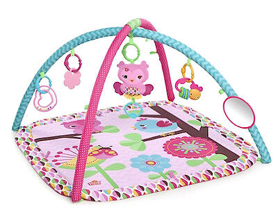 Baby Activity Gym Pink Infant Girl Musical Soft Tummy Time Play Mat Portable Toy