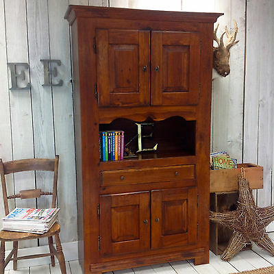RUSTIC COUNTRY PINE BOOKCASE, CABINET, CUPBOARD, FRENCH style DRESSER