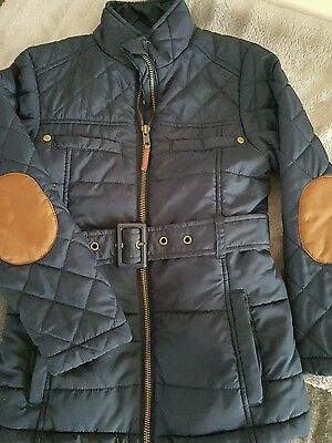 Next girls navy blue jacket 5/6  years
