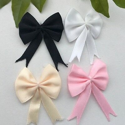 8 pcs Small Satin Ribbon Flowers Bows Sewing Craft Appliques #212