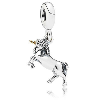 Authentic Genuine 14k Gold Pandora Unicorn Pendant Charm 791200