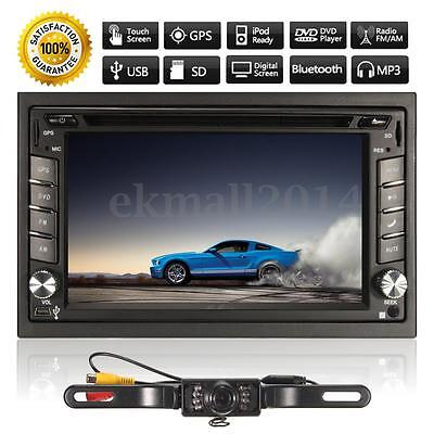 GPS HD 2DIN 6.2'' Ecran Tactile Autoradio Stéréo DVD Bluetooth MP3 TV USB Caméra