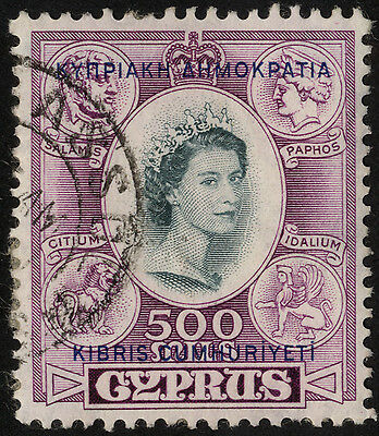 Cyprus - SG 201 - 1960-61 - 500m. slate and purple - Used