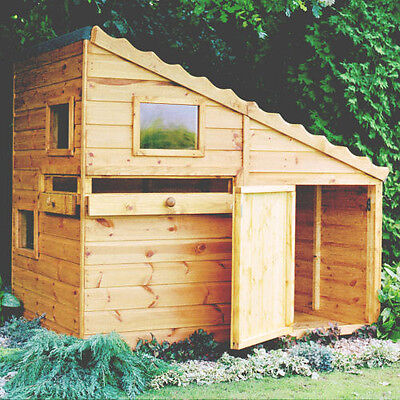 Shire Command Post  Wooden Playhouse -  Wendy House Childrens Kids Den (6 'x 4')