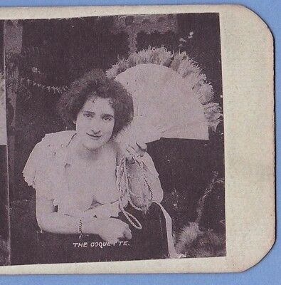 Stereoview of a Lady - The Coquette