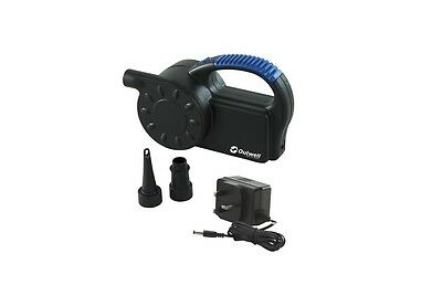 Outwell Tornado Pump 12V/230V Rechargeable / Camping / Airbeds / Inflate/Deflate