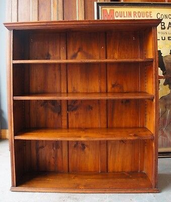 Rustic Victorian Style Large Solid Pine Shelves Books Storage COURIER No. GIVEN