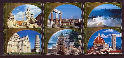 UN - All 3 Offices . 2002 Italy World Heritage (6) . Mint Never Hinged